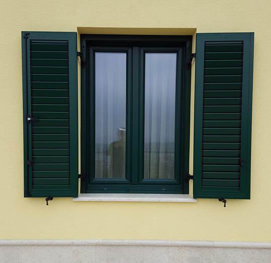 Odprte ALU polkne dvokrilnega okna
