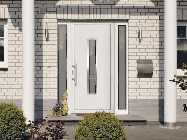 PVC vhodna vrata z obsvetlobama