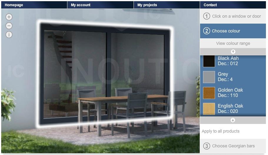 Spletni konfigurator za PVC vhodna vrata