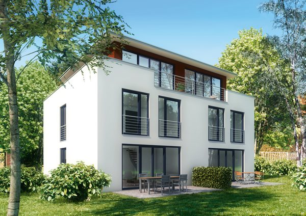 PVC okna v moderni hiši